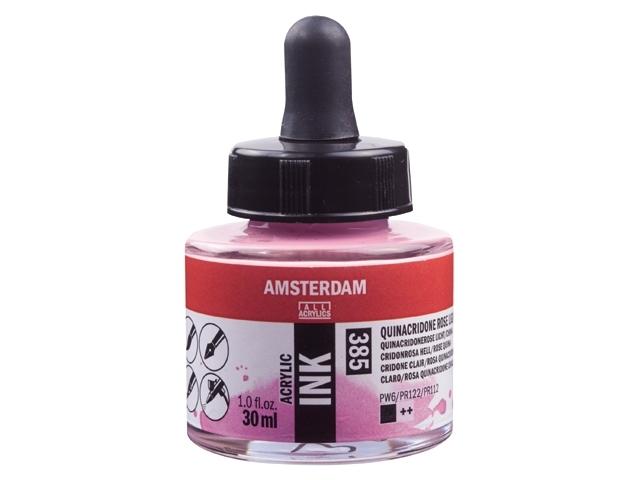 Acryl inkt Quinacrodine rose licht 385 - Amsterdam acrylic