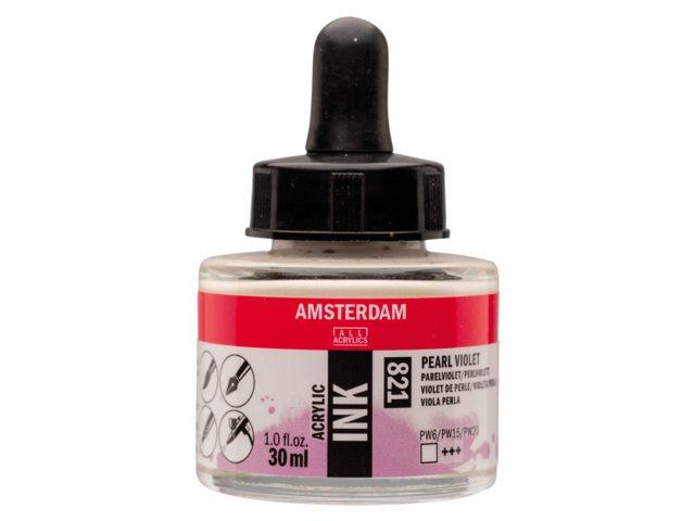 Acryl inkt Pearl violet 821 - Amsterdam acrylic