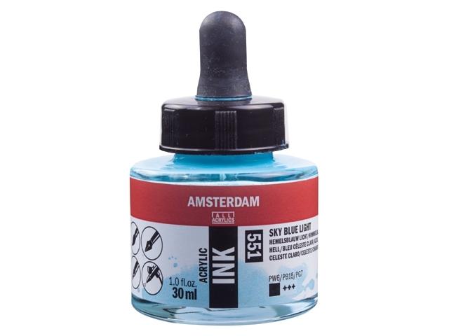 Acryl inkt Hemelsblauw licht 551 - Amsterdam acrylic
