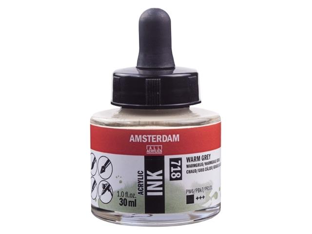Acryl inkt Warmgrijs 718 - Amsterdam acrylic