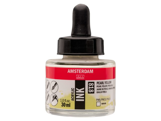 Acryl inkt Pearl yellow 818 - Amsterdam acrylic