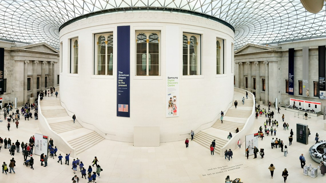 A bustling British Museum