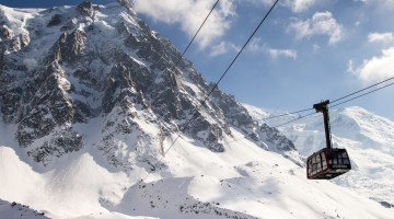 Aiguille du Midi tram in Chamonix