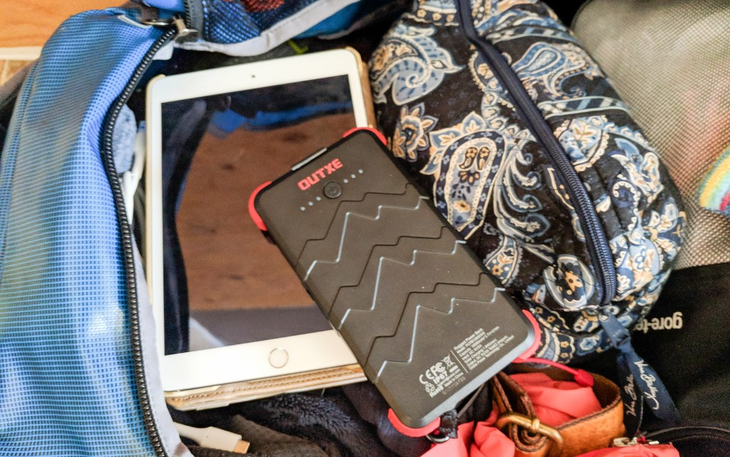 OUTXE Waterproof Solar Portable Charger Outdoor Dual USB