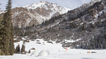 A Winter Paradise: Ak-Suu Backcountry Skiing Yurt Lodge