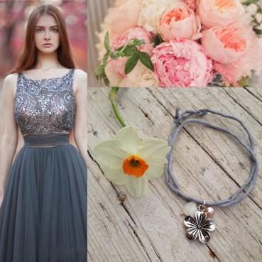 bracciali in seta e perle d'acqua dolce artigianali
