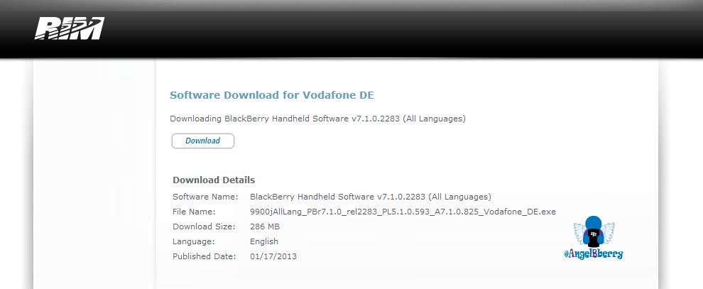 Sistema Operativo Oficial 7.1.0.825 para BlackBerry Bold