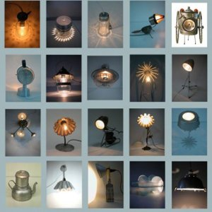 visuel ambiance lampes recyclées