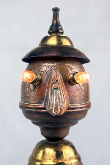 personnage en cuivre et laiton, détournement d'objets