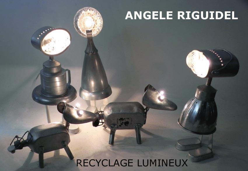Sculptures récup en aluminium, personnage et animaux.