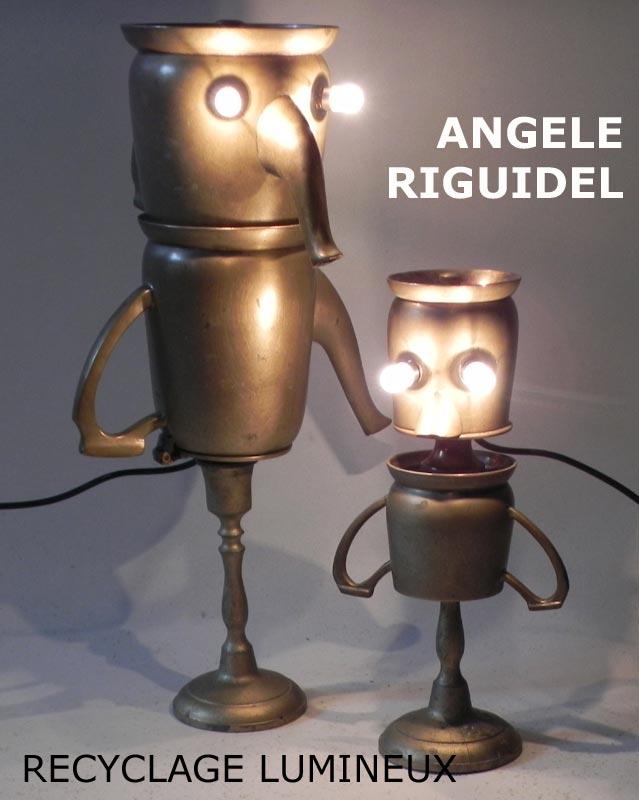 sculptures, personnages service à café, métal patiné doré