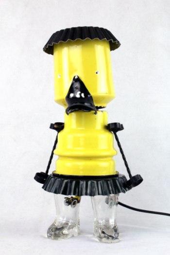 lampe canard jaune et noir