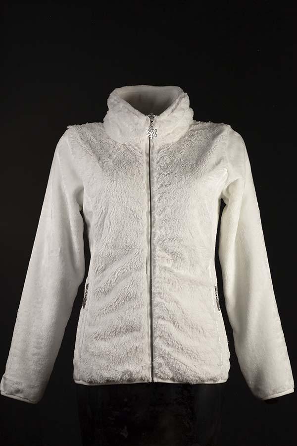 veste polaire femme linz blanc F