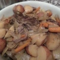 Beef roast in a multi-cooker