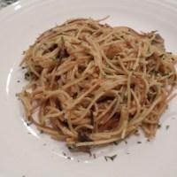 Mushroom spaghetti risotto