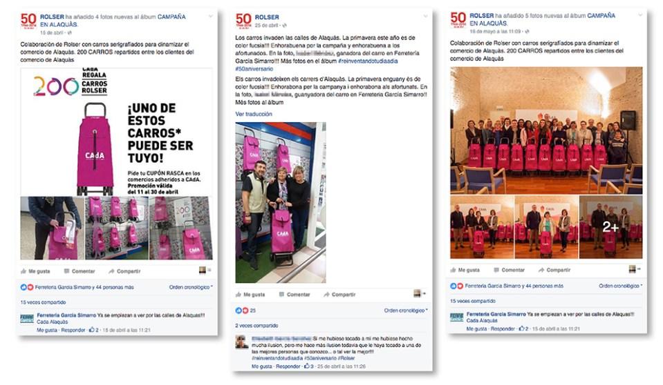 CAdA Alaquas comercio regalo carro rolser concurso diseño gráfico cartel poster campaña publicidad facebook redes sociales PLV rasca primavera fucsia fiebre rosa post like followers compartir 50 anuversario
