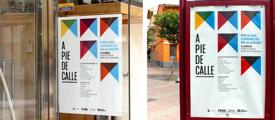 CAdA Alaquas feria market diseño grafico campaña pubilicidad comerciantes nit oberta a pie de calle poster redes sociales facebook comunicación oferta mupi