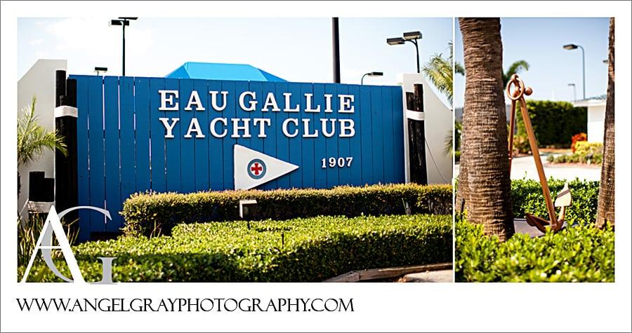 Fall Wedding Eau Gallie Yacht Club Dave And Christy