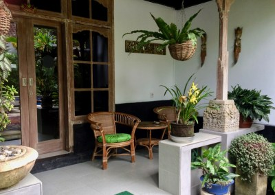 Angel House Ubud Sandat suite private entrance and veranda.