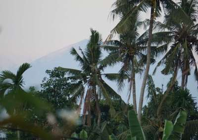 Mount Agung from Lumbung room veranda