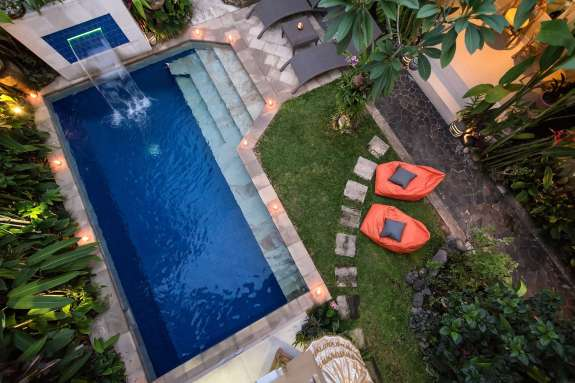 View of pool from Lumbung room