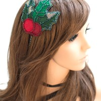 DIY Tutorial + FREE Pattern: Beaded and Embroidered Holly Headband