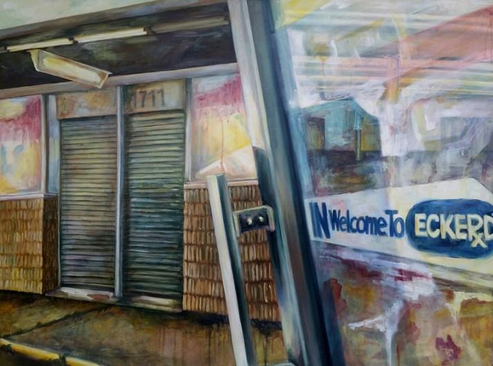 """Eckerd, oil on wood, 30"""" x 40"""""""