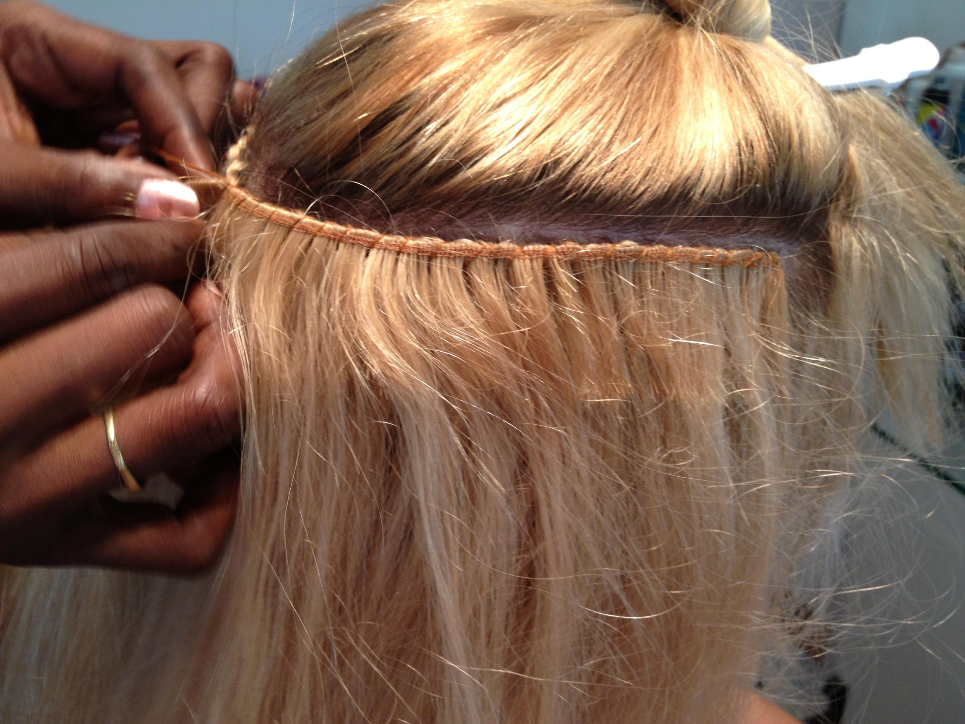 cabello cosido