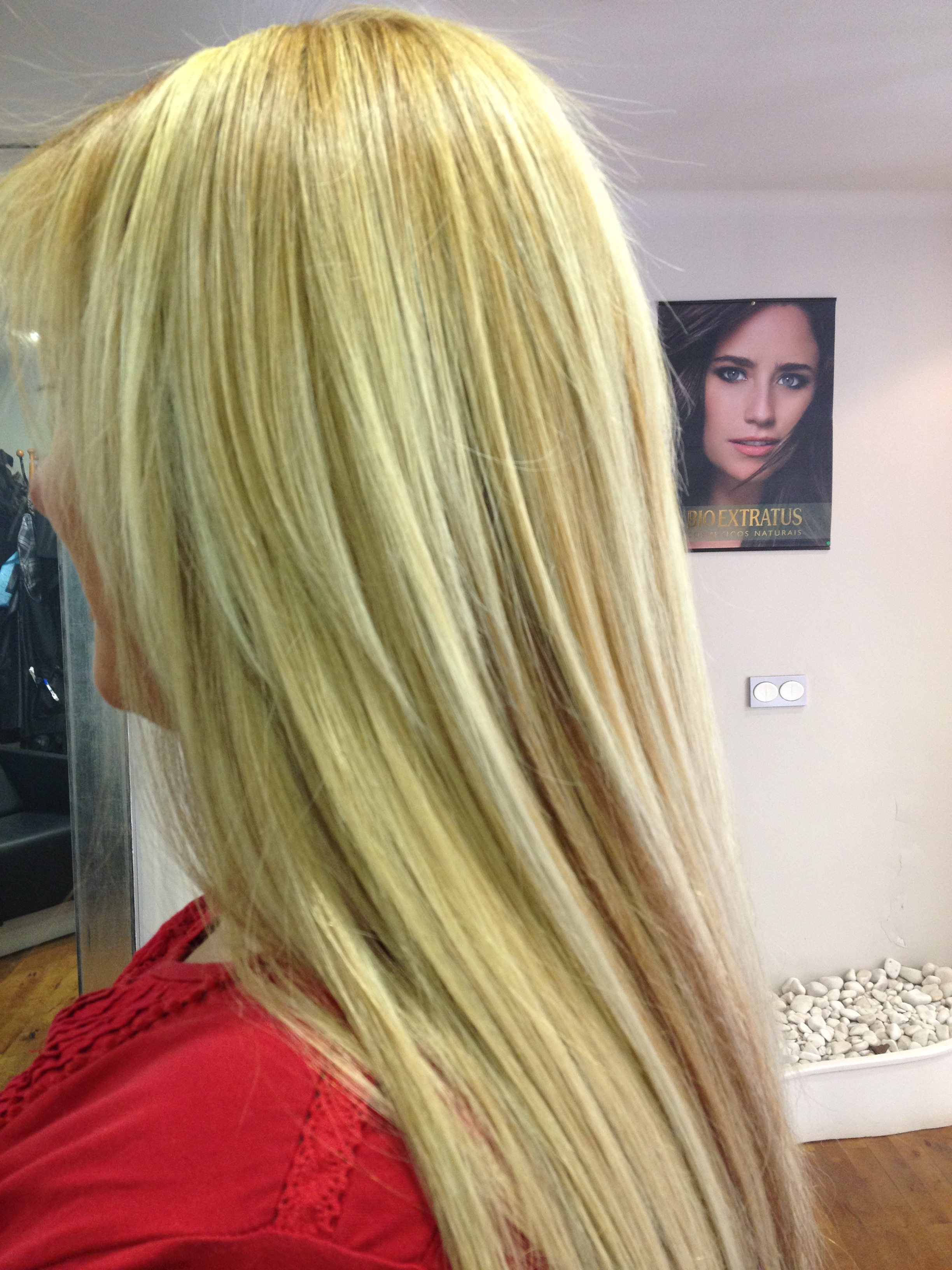 extensiones de keratina rubio claro rubio loiro
