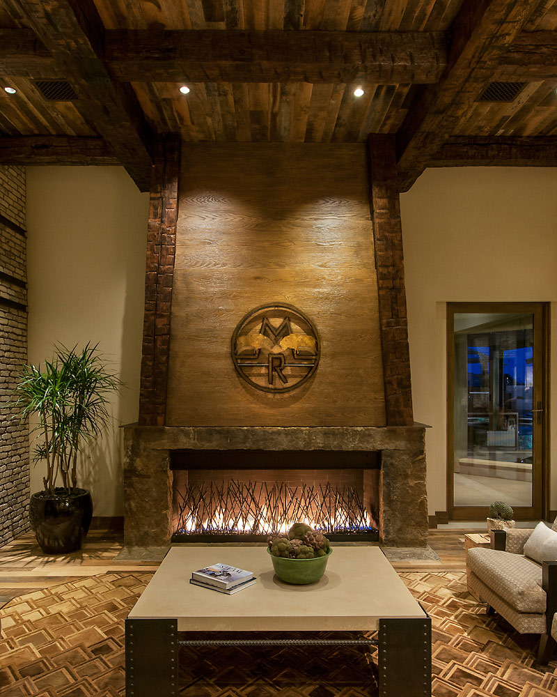 Rustic Revelations - Family Room Fireplace - Angelica Henry Design