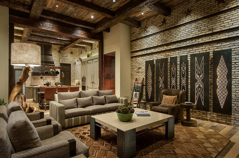 Rustic Revelations - Family Room - Angelica Henry Design