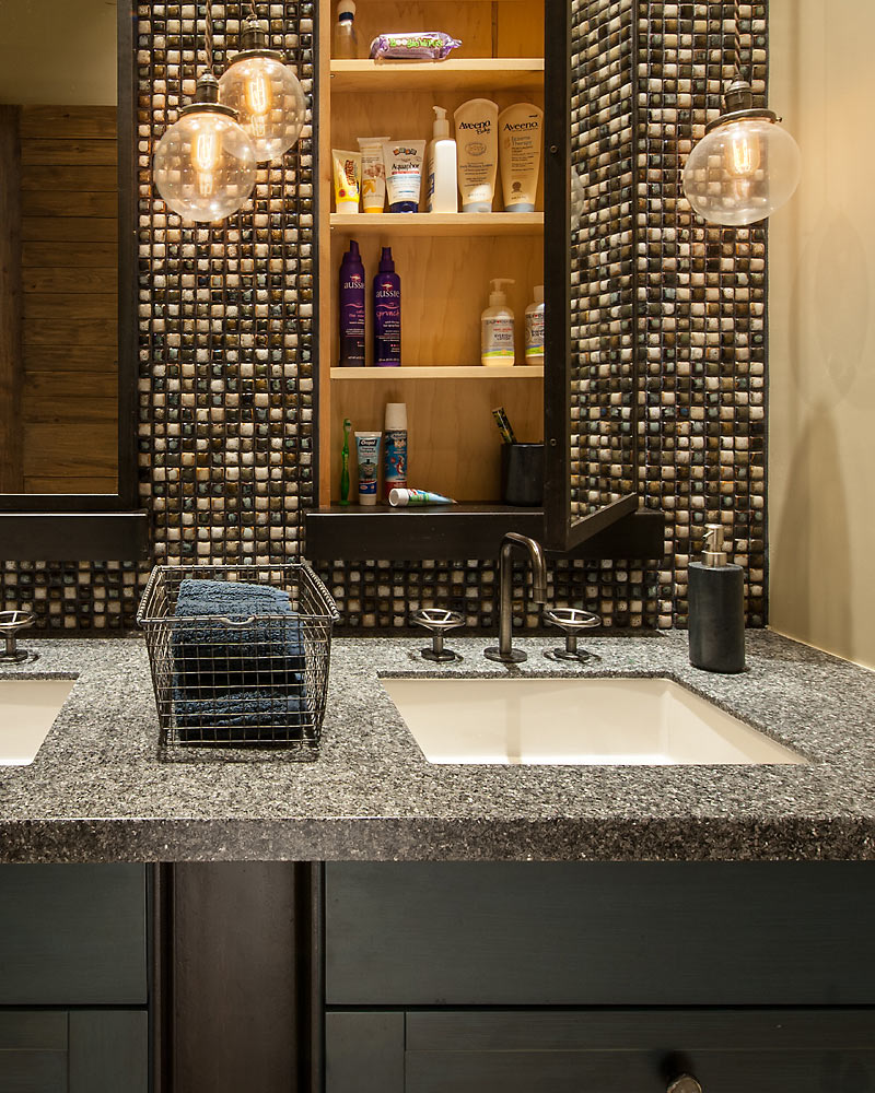 Rustic Revelation - Guest Bath Detail - Angelica Henry Design