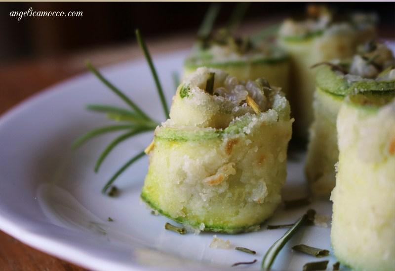 involtini di zucchine e quinoa senza glutine e lattosio