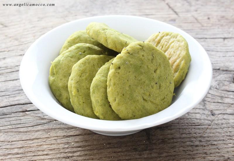 biscotti salati agli asparagi vegane e senza glutine