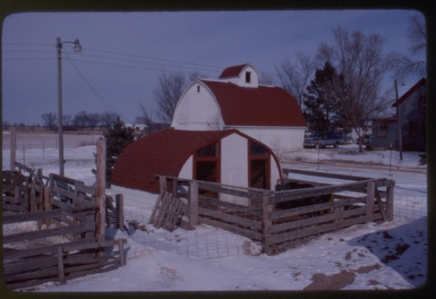 1) 1970's, Corn Crib,  (larger building with Cupola)