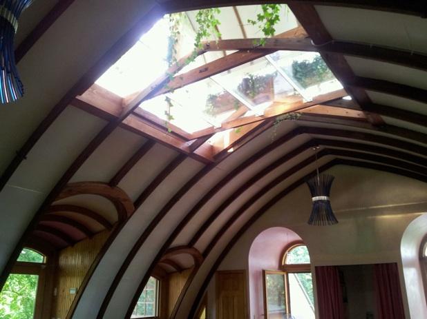 2013, Corn Crib ceiling including Cupola