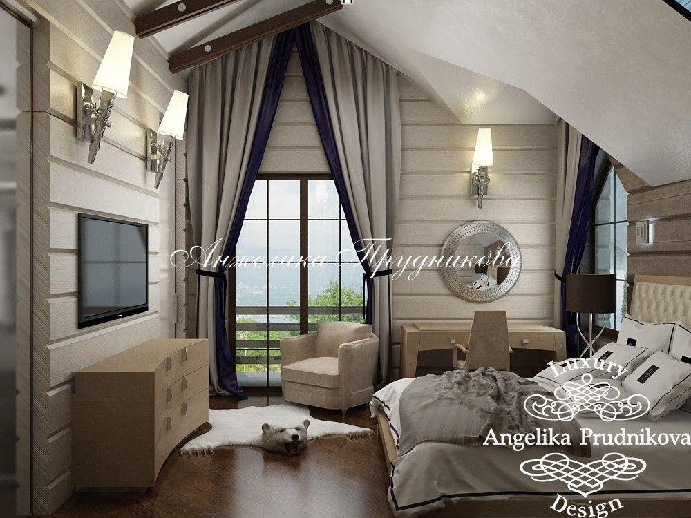 дизайн интерьера деревянного дома 6