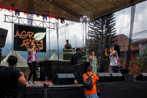 The AgroArte hip hop collective performs at a concert commemorating the 14th anniversary of the infamous Operation Orion.