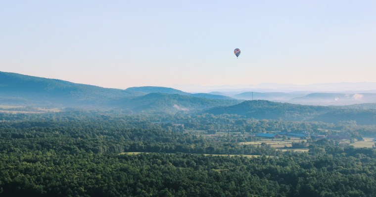 Ballooning Over the Adirondack Mountains