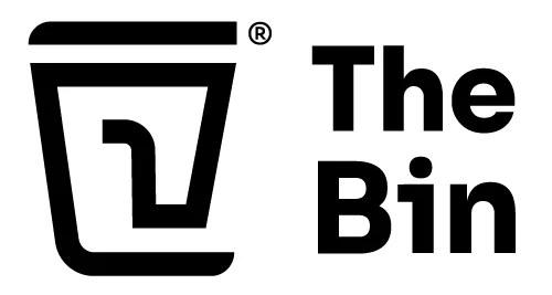 The Bin logo zwart