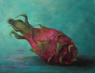 """""""Dragon Fruit"""" 11x14 Acrylic on Panel"""