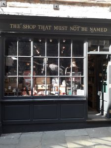 A Harry Potter shop called The Shop That Must Not Be Named
