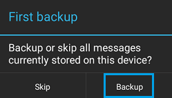 backup android sms