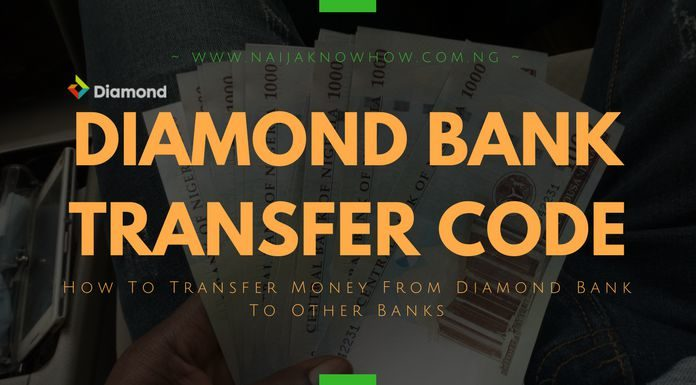 DIAMOND BANK TRANSFER CODE  - How to Transfer Money From Diamond Bank - Diamond Bank Transfer Code