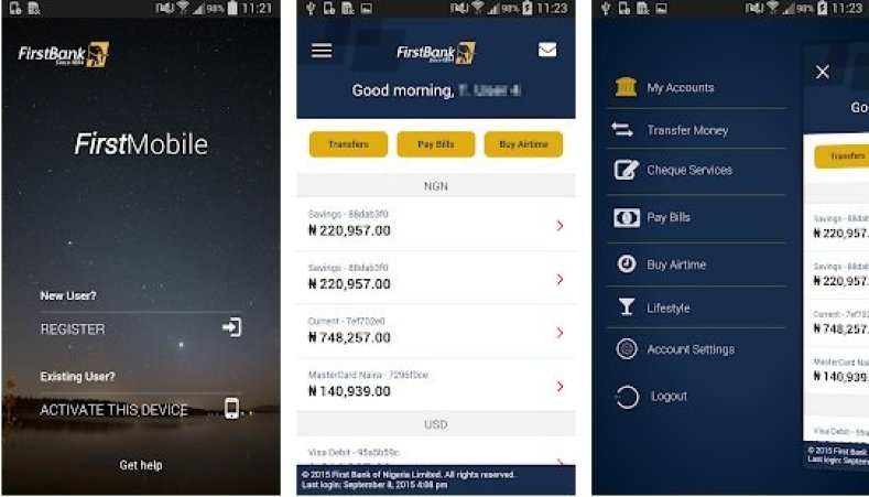 first bank mobile app