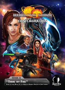 Burning Suns - Conflagration Issue 6 - Cover