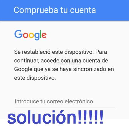 solución eliminar cuenta google