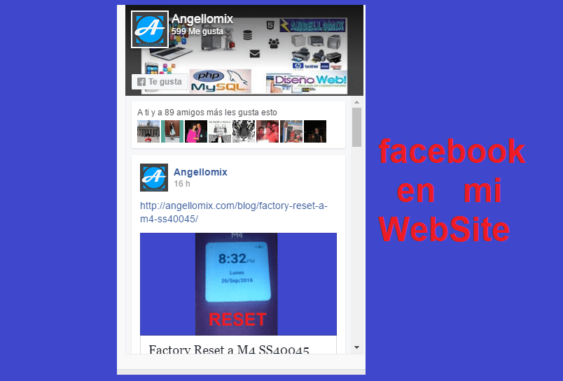 facebook en mi website
