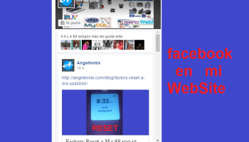facebook en mi website