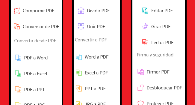 Editar PDF 100% lo mejor para unir, cortar, convertir y mucho mas! [Online)